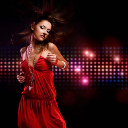Glamour Girl Dancing To Disco Beats