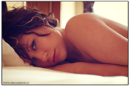 Nude Photography Tips - Girl Lying On A Bed Semi-naked