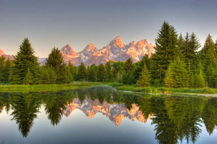 View Of The Grand Teton Mountains From Schwabacher Landing