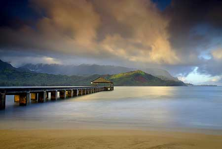 Light At The End Of The Pier - Best Landscape Photo Scene