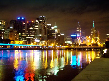 Really colorful cityscape take at night
