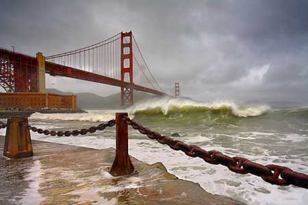 Landscape Photography Techniques - Rust & Surf at San Francisco Golden Gate Bridge