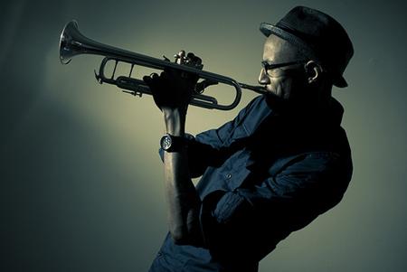 Portrait Photo Of The Trumpet Man