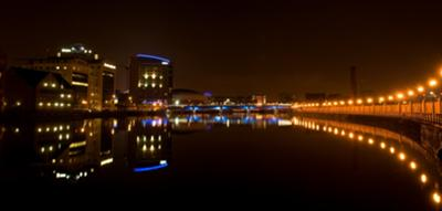Lagan River, Belfast, by night