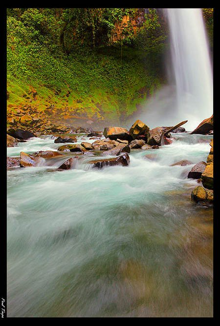 Beautiful Waterfall flowing over rocks - Paul Timpa used Manual mode to capture this photo